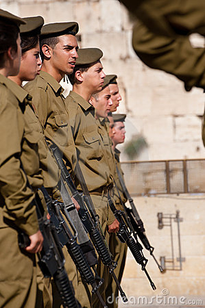 Israelische Soldaten Jerusalems an der westlichen Wand Redaktionelles Stockbild