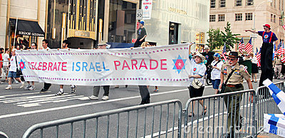 Isreal day parade 2011 Editorial Stock Image