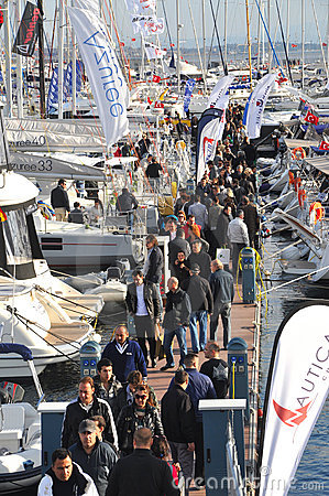 Istanbul Boat Show Editorial Photography