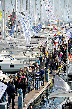 Istanbul Boat Show Editorial Stock Image