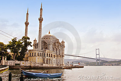 Mosque, Istanbul on the Bosporus, Turkey