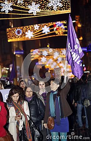 Der Tag der internationalen Frauen Redaktionelles Stockfotografie