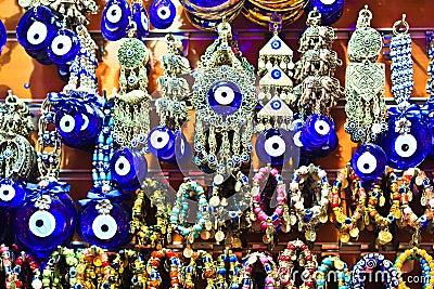 Istanbul Grand Bazaar - Turkish Blue Eyes (nazar)