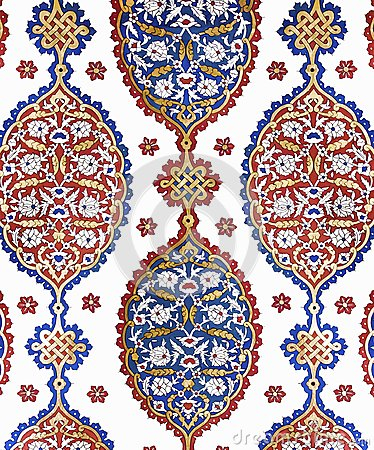 Free ISTANBUL - NOVEMBER 5: Ottoman Ornamental Wall Decoration. On November 5, 2014 In Istanbul. Stock Image - 121798611