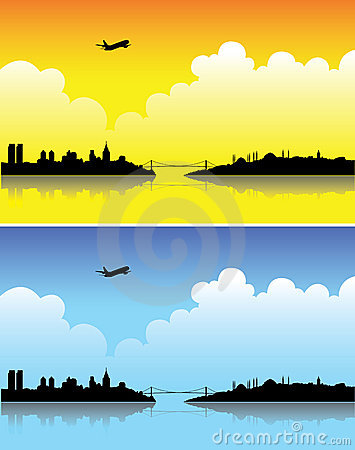 Free Istanbul Silhouettes Royalty Free Stock Photos - 7236528