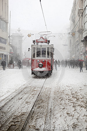 Istanbul on a snowy day Editorial Photography