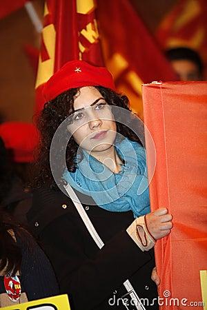 Landskampkvinna dag Redaktionell Fotografering för Bildbyråer