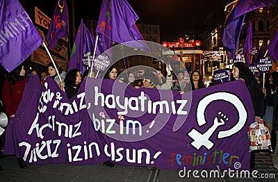 International women's day Editorial Image