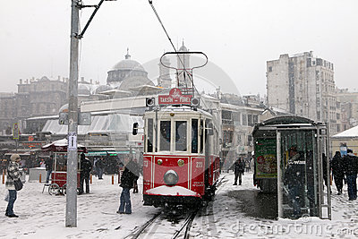 Istanbul under Snow Editorial Stock Photo
