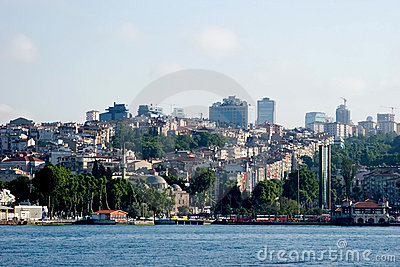 Istanbul urban life from the sea