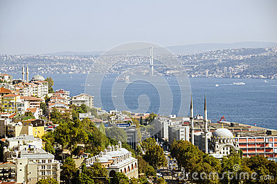 Istanbul view Editorial Stock Photo