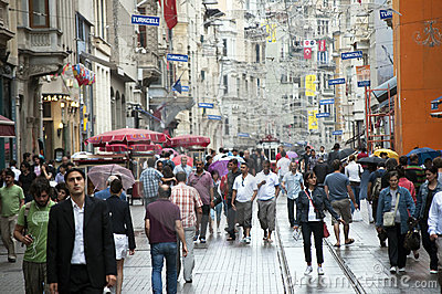 Istiklal Avenue -Istanbul, Turkey Editorial Photo