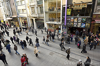 Istiklal Caddesi, Beyoglu-Istanbul Editorial Stock Image