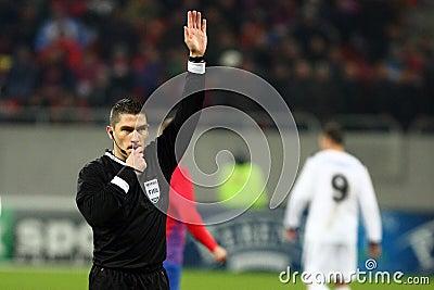 Medel för FC Steaua Bucharest FC Gaz Metan Redaktionell Fotografering för Bildbyråer