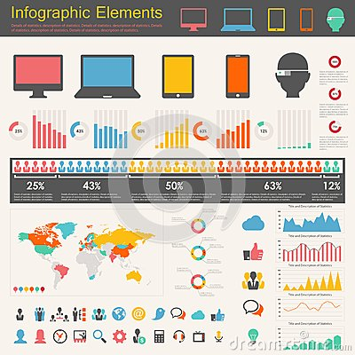 Free IT Industry Infographic Elements Royalty Free Stock Photo - 31614545