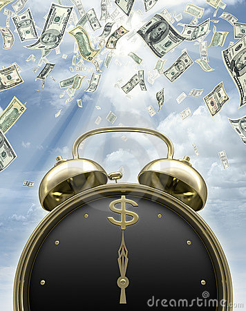 Free It Is Time To Earn Money Royalty Free Stock Photography - 6020757