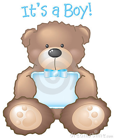 Free It S A Boy! Teddy Bear & Sign Stock Images - 3677124