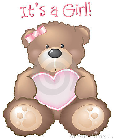Free It S A Girl! Teddy Bear Sign Stock Photo - 3716010