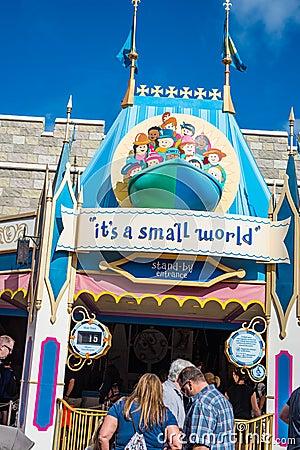 Free `It`s A Small World` Ride At The Magic Kingdom, Walt Disney World Royalty Free Stock Photo - 108411425