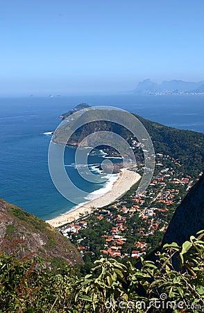 Itacoatiara beach view of the Mourao Mountain top