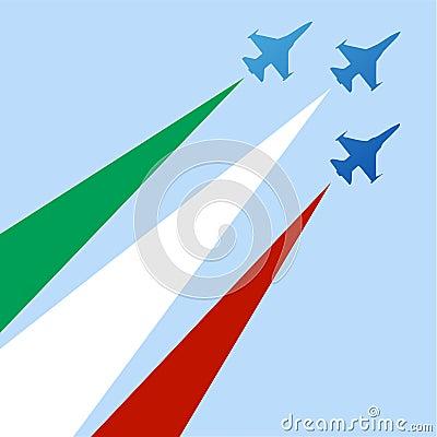 Italian acrobatic air force silhouette