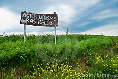 Italian Agriculture Sign in Tuscany