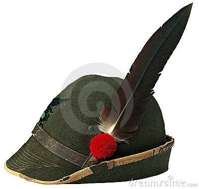 Free Italian Alpine Hat Royalty Free Stock Image - 21385706