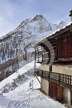 Italian Alps, Gressoney valley: Alpine architectur