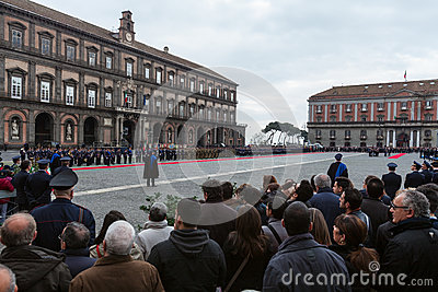 Commemoration of the centenary celebration with the Italian air force  Editorial Photography