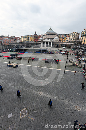 Commemoration of the centenary celebration with the Italian air force  Editorial Stock Image