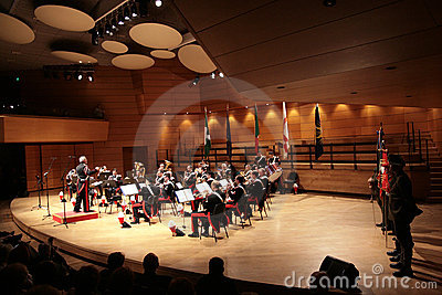 Italian army commemoration concert Editorial Stock Image