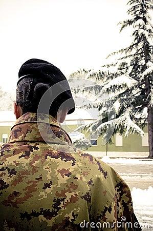 Italian army soldier