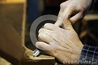 Italian artisan luthier wood carver