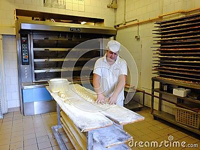 Italian baker Editorial Stock Photo