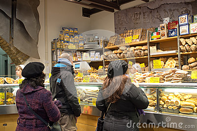 Italian bakery Editorial Stock Image