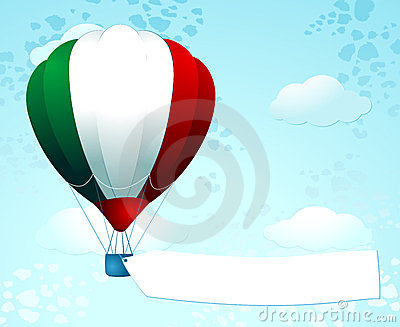 Italian balloon with banner