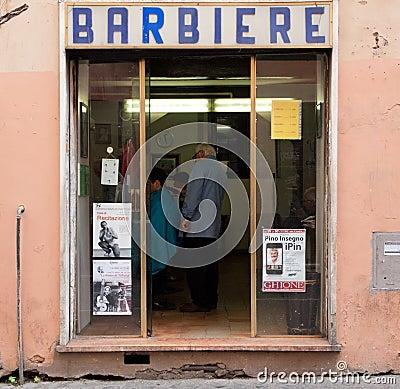 Italian barber Editorial Photo