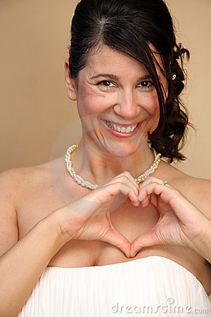 Italian Bride with Heart out of Hands