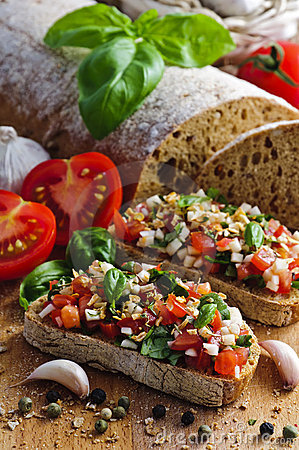 Free Italian Bruschetta Royalty Free Stock Photography - 19520797