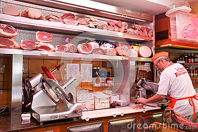 Italian butcher Editorial Photography