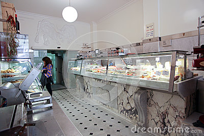 Italian butcher shop Editorial Photography