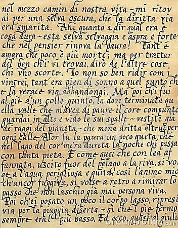 Italian Calligraphy