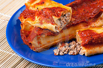 Italian Cannelloni with Pork Meat