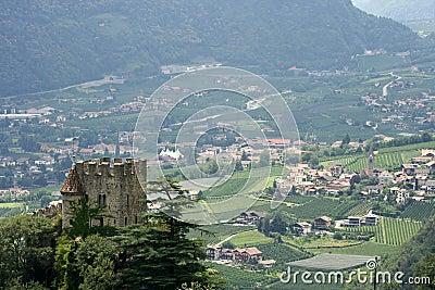 Italian castle in countryside