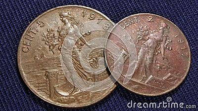 Italian cents vintage