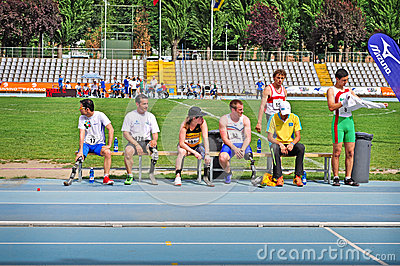 Italian championships of athletics for paralympic Editorial Stock Photo