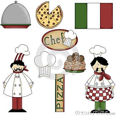 Italian Chef Graphics 1