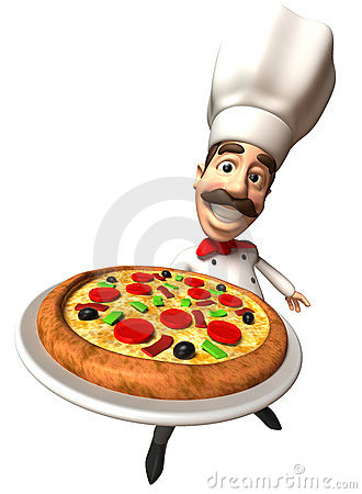 Free Italian Chef With A Pizza Royalty Free Stock Image - 8848956