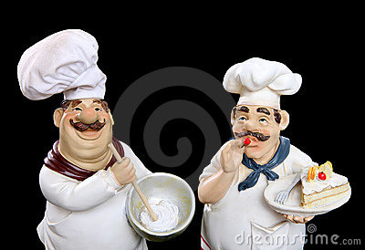 Italian chefs cooking food