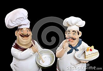 Italian chefs cooking food